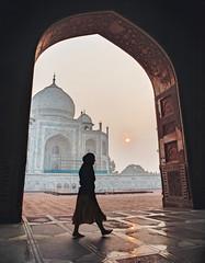 The taj mahal silhouette (MarcoPro1) Tags: silhouette taj mahal door monument india travel amazing