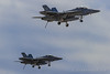 """Boeing F/A-18F Super Hornets of VX-9 """"Vampires"""" from NAWS China Lake (Norman Graf) Tags: fa18 fa18f usn aircraft flight 2017chinalakeairshow 166927 dirtypass 166886 airplane airshow boeing navalaviation vx9 vampires airtevronnine airtestandevaluationsquadronnine attack f18 f18f fighter hornet jet nawschinalake plane superhornet unitedstatesnavy xe214 xe231"""
