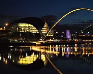 Millennium Bridge - Golden Arches