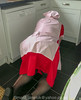 Red Overall & Long Check Tabard 03 (Maid Janet) Tags: overall tabard rubbergloves maid housemaid putzfrau cleaning cleaner housework housekeeping tranny crossdresser crossdressing sissymaid housewife domestic stockings kitchen
