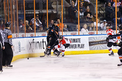"Kansas City Mavericks vs. Cincinnati Cyclones, February 3, 2018, Silverstein Eye Centers Arena, Independence, Missouri.  Photo: © John Howe / Howe Creative Photography, all rights reserved 2018. • <a style=""font-size:0.8em;"" href=""http://www.flickr.com/photos/134016632@N02/40086500872/"" target=""_blank"">View on Flickr</a>"