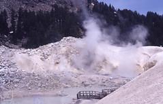 Bumpass Hell. Lassen Volcanic Park. Non-precious opal, white (Mary Gillham Archive Project) Tags: 1987 87231 california landscape lassenvolcanicpark opal snowice usa