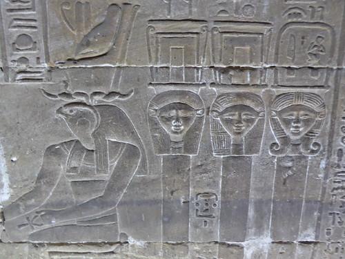 Horus with Hathor Columns, Dendera
