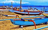 Bali, Jukung Outrigger Canoe (gerard eder) Tags: world travel reise viajes asia southeastasia indonesia bali sanur sanurbeach beach strand playa boats boote barcas blue wasser water outdoor natur nature naturaleza landscape landschaft paisajes panorama