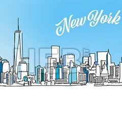 Sketch of New York City Skyline (Hebstreits) Tags: architecture art background building business city cityscape design downtown drawing drawn hand illustration landmark landscape line manhattan metropolitan modern new office panorama silhouette sketch skyline skyscraper tourism town travel urban vector view york