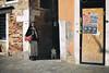 Resting (Marta Marcato) Tags: dog woman street streetphotography shadow shadows resting rest eyes light sunlight bag people venice venezia donna cane italy italia nikond7200