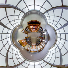 Quiet please! (Jon Bush) Tags: architecture abstract tinyplanet pattern library canon canon80d canon815mm