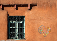 20180111- SANTE FE BFF_7043 (Bonnie Forman-Franco) Tags: wall window art architecture santafe newmexico orange sun windowgrill landofenchantment photoladybon bonnie photography