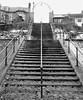 Steps from Promenade to Town - Newbiggin - B&W (Gilli8888) Tags: northumberland newbigginbythesea newbiggin northsea northeast seaside coast coastal winter promenade nikon p900 coolpix snow steps stairways stairs linear blackandwhite