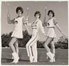 Vintage 60's Photo : 3 Majorettes in Step (CHAIN12) Tags: scan photo vintage girl woman younglady kthyphts31960s3majorettes majorettes majorette marching band highschool baton boots tassle uniform