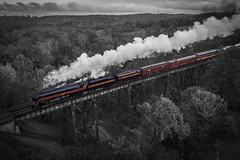 Tuscan Streak (lukeharwell) Tags: virginia bridge passenger norfolksouthern steamtrain railroad train powhatanarrow 484 nw norfolkwestern jclass 611