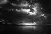 Nieuwpoort-bad (BE) (de_frakke) Tags: landscape landschap noordzee northsea avondlicht wolken zeedijk zwartwit dreigend