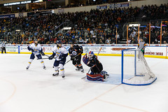 "Kansas City Mavericks vs. Toledo Walleye, January 20, 2018, Silverstein Eye Centers Arena, Independence, Missouri.  Photo: © John Howe / Howe Creative Photography, all rights reserved 2018. • <a style=""font-size:0.8em;"" href=""http://www.flickr.com/photos/134016632@N02/24969297027/"" target=""_blank"">View on Flickr</a>"