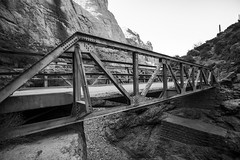 Bridge Art III (Modeflip) Tags: bridge mountains water rocks desert sky black white arizona apache trail