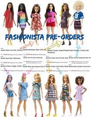 Fashionista Pre-order Guess List (Still Museum) Tags: barbie doll playline aa african american