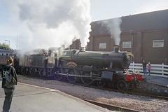 7802 at Weston-super-Mare, 7 Sep 2003 (Ian D Nolan) Tags: railway 35mm epsonperfectionv750scanner station gwr 460z 7802 bradleymanor westonsupermarestation