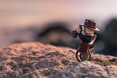 Jones in search of lost world (Alejandro Lluvia) Tags: sunset landscape beach lego indianajones bricks macro toys crazy tales