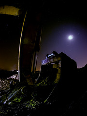 Escalator sleeping while off work (Andrew Myatt Photo) Tags: nocturnalphotography landscapes field countrylife construction