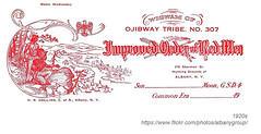 1920s improved order of red men letterhead (albany group archive) Tags: albany ny history 1920s improved order red men letterhead 210 sherman sheridan hollow old vintage photos picture photo photograph historic historical
