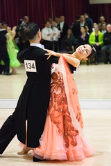 Orange dress (quinet) Tags: 2017 2018 britishcolumbia canada crystalballroom dancesport februarydancefest richmond tanzsport danse sportdedance vancouver 124