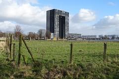 20180216 05 Groningen - Damsterdiep - Tasmantoren (Sjaak Kempe) Tags: 2018 winter sjaak kempe sony dschx60v nederland netherlands niederlande groningen stad damsterdiep tasmantoren