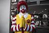 The Khao San Clown (Matt Molloy) Tags: mattmolloy photography selectivecolouring red yellow mcdonalds mascot ronaldmcdonald sculpture statue clown painted wai praying smile khaosanroad krungthepmahanakhon bangkok thailand lovelife