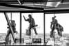 The Incredibles (Jon Ariel) Tags: window washing skyline highrise bw blackandwhite atlanta georgia ga