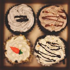 09 / 52 : 4 (Randomographer) Tags: 52 sugar delicious frosting tasty fattening unhealthy food chocolate box breakfast indulgent treat pleasure 9 2018 52weeks cup cake cupcake carrot cookie bake four 4