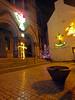 Wesley Chapel Courtyard 2 (Cornishcarolin. Thank you for over 2 Million Views) Tags: cornwall penryn town christmaslights wesleychapel chapel tree angel anchor lights steps cross