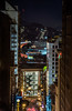 above the noise (pbo31) Tags: bayarea california nikon d810 color black night january 2018 boury pbo31 winter dark nighht sanfrancisco city urban lightstream motion traffic roadway over view 101 infinity nobhill masonstreet marketstreet panorama stitched large panoramic vertical fireescape hostel x parking garage neon sign downtown