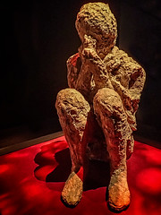 Cast of a crouched man from the Grand Palaestra in Pompeii Roman 1st century CE (mharrsch) Tags: man male crouched cast human death suffocation roman pompeii 1stcenturyce ancient omsi portland oregon mharrsch victim eruption vesuvius