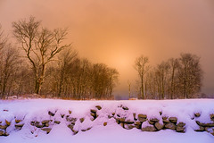 Stonewall (Photography by Lazlo) Tags: ifttt 500px trees frozen forest winter snow ice frost snowing outdoors blizzard snowdrift stonewall cold temperature fir tree nature sunset connecticut sharon flickr