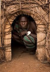 Mursi Tribe (Rod Waddington) Tags: africa african afrique afrika äthiopien ethiopia ethiopian ethnic etiopia ethnicity ethiopie etiopian ethio omovalley omo outdoor omoriver mursi tribe tribal traditional hut warrior culture cultural sundaylights