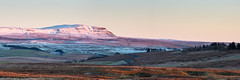 Pen-y-ghent Panoramic (matrobinsonphoto) Tags: pen y ghent penyghent gent countryside landscape outdoors nature natural scenery scenic beautiful north yorkshire dales national park 3 thee peaks mountain hill valley ribblehead ribblesdale golden hour sunset sunlight sun light pink blue cool cold frozen snow snowy peak capped winter wintry