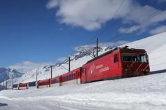 MGB - Oberalp Pass (Kecko) Tags: 2018 kecko switzerland swiss schweiz suisse svizzera innerschweiz zentralschweiz uri oberalp pass oberalppass schöni matterhorngotthardbahn railway railroad mgb eisenbahn bahn zug train schnee snow winter berge mountain hge44ii 107 grimsel swissphoto geotagged geo:lat=46644500 geo:lon=8623640