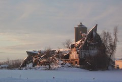 The Rural Effects of Gravity :) (moodyfan (Julie) Working on catching up) Tags: barn gravity silo ruin rural farm