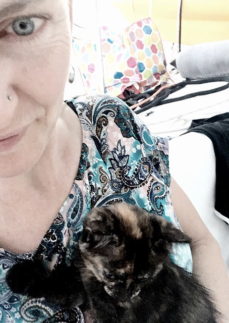 Mother of a 10-year-old. And her kitten.