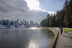 Coming Out Of The Cloud (Clayton Perry Photoworks) Tags: vancouver bc canada winter explorebc explorecanada stanleypark seawall skyline people coalharbour