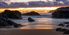 Slow motion start to the day (StefanKleynhans) Tags: longexposure beach sunrise coast water sea waves milky smooth rocks sand clouds reflection pink purple yellow orange nikon d7100 forster nsw australia