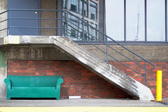 Green Couch (s127ha88) Tags: coloures bremen sofa minimalistic street green couch