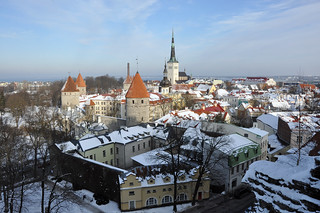 Old Tallinn view from Toompea