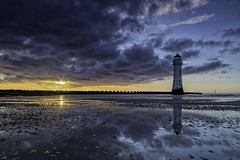 Wallasey......... (gmorriswk) Tags: seascape landscape fort perch rock lighthouse new brighton river mersey format hitech 09 soft grad nd reflection reflections