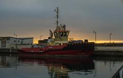 Tugboat Sund in Helsingborg (frankmh) Tags: boat tug sund helsingborg skåne sunset sweden öresund outdoor