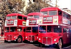 London transport RM's 1846, 136, and  1423 Whitehall. (Ledlon89) Tags: london bus buses londonbus londonbuses lt lte londontransport aec routemaster rtbus rtl rtw vintagebuses