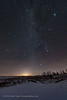The Sparkling Winter Sky over Snow (Amazing Sky Photography) Tags: beehive belt capella milkyway orion pleiades pointers sirius taurus winter6 winterhexagon wintertriangle wintersky snow untracked
