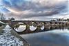 Smeatons Bridge Perth_G5A5925 (ronniefleming@btinternet.com) Tags: smeatonsbridge perthbridge perth perthshire scotland reflections archedbridge rivertay tay angryclouds ronnieflemingph31fy walkhighlands roadbridge pedestrianbridge a85 snow ice winter leadingline