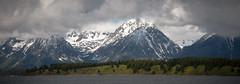 Cloud Splitters (Angles & Edges) Tags: grand teton range grandtetonrange wyoming mountain snow cloud lake jacksonlake tree flower sky martinwitt anglesedges