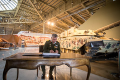جلالة الملك عبدالله الثاني يفتتح متحف الدبابات الملكي بمنطقة المقابلين في عمان (Royal Hashemite Court) Tags: kingabdullahii royal tank museum jordan متحف الدبابات الملكي الأردن