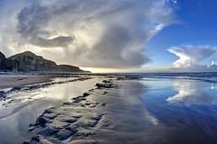 Twentyfourseven (pauldunn52) Tags: temple bay glamorgan heritage coast wales wet sand shore platforms reflections cliffs clouds