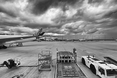 Blur (Keith Midson) Tags: airport tullamarine melbourne planes aeroplane runway clouds sky